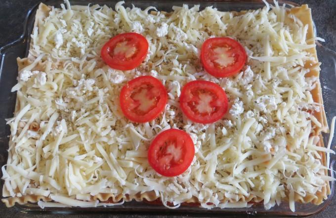 """""""V"""" for Vegetarian lasagne"""