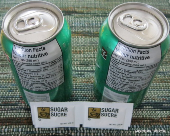 Two cans (355ml) of pop has 709 grams sugar