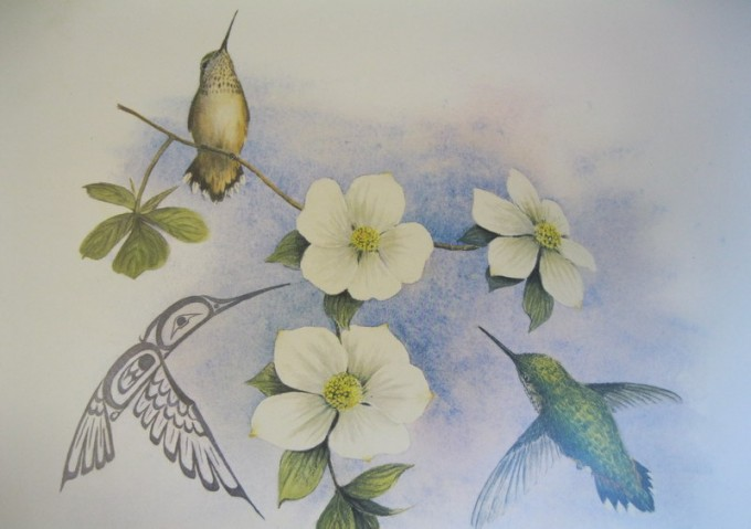 Hummingbird Print - by Sue Coleman