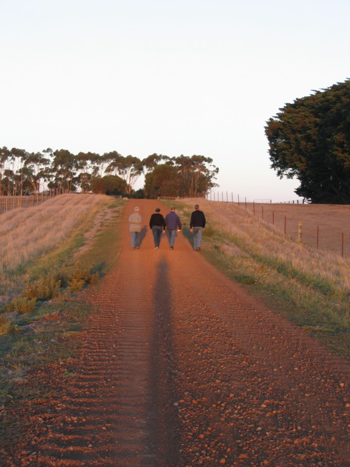 A part of Life's Journey - walking along the road with family