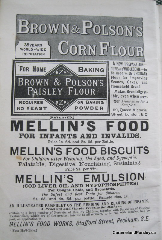 1800's Corn Flour Label