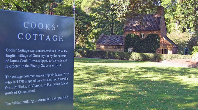 Captain Cook's cottage in the Fitzroy Gardens, Melbourne