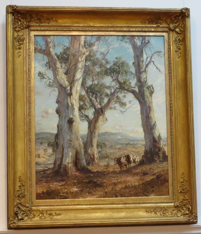 Australian favourite artist, Sir Hans Heysen, Ballarat Art Gallery, Victoria