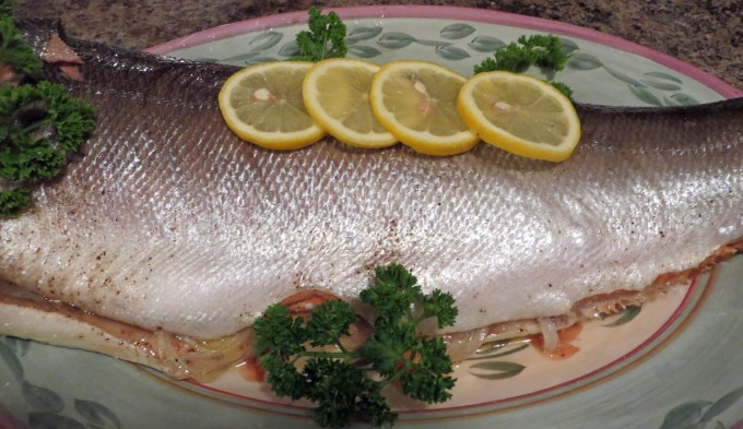 Simply delicious a and juicy baked Coho Salmon