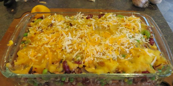 Wild Rice & Beans with pumpkin casserole