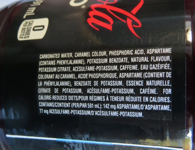 Caramel Colour is ingredient #2 after water in popular diet coke. Note Aspartame is #4. Note this is a diet cola so sweeteners and no sugar
