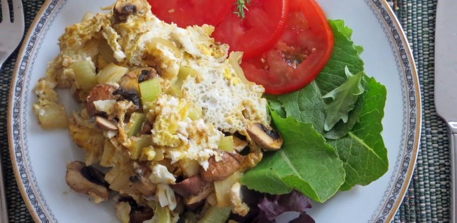 Ready to go – mushroom omelette