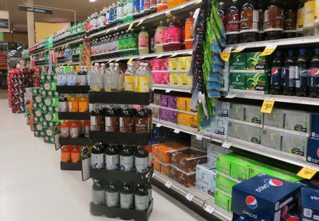Most big box stores dedicate entire aisles to the display & sale of soft drinks