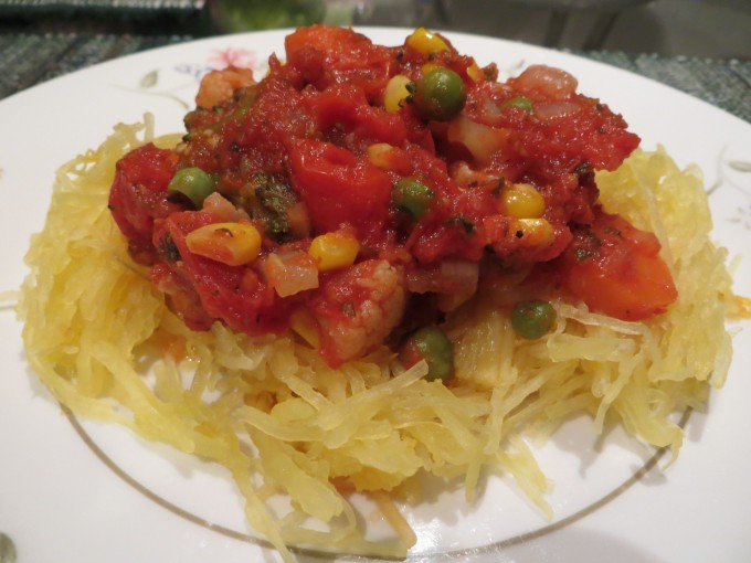 Spaghetti squash pasta - yummy