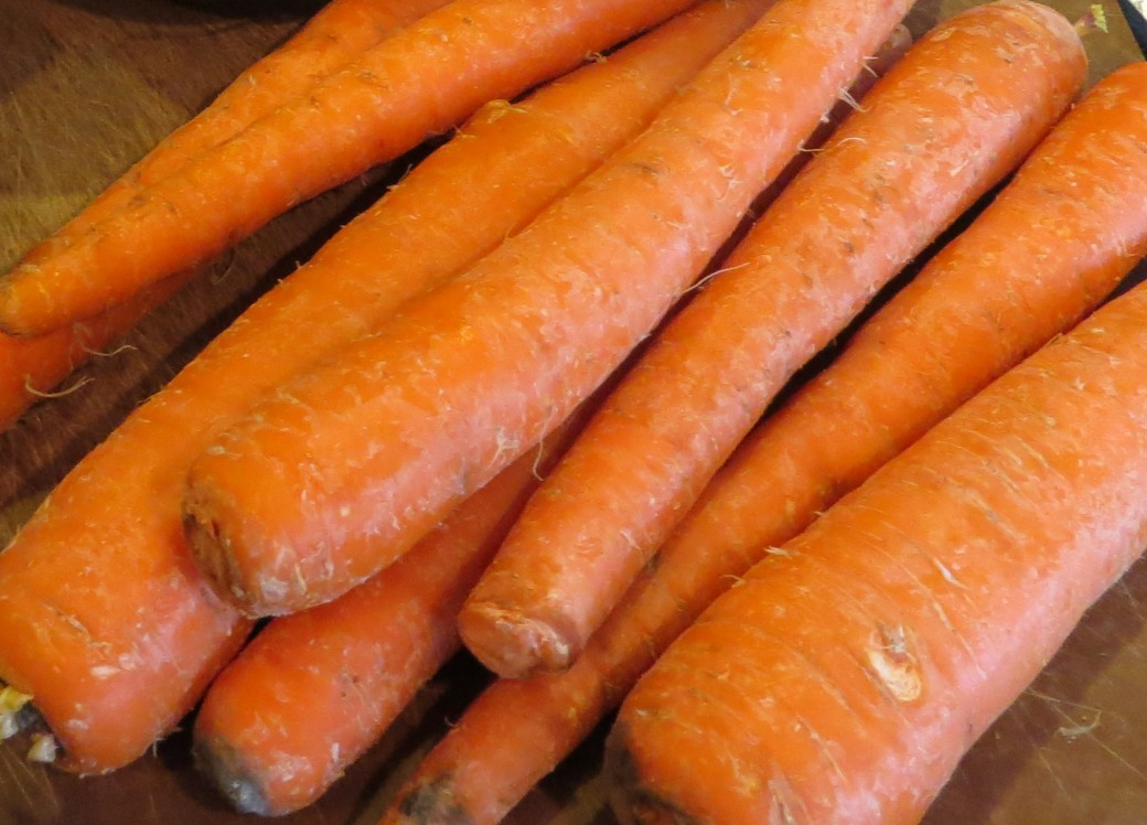 Sweet and juicy carrots used for low fat curried carrot soup