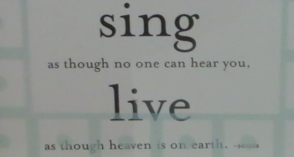 Dance ~ love ~sing ~ live