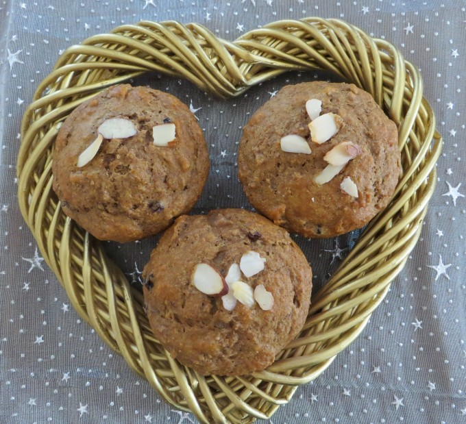 Delicious pear mincemeat muffins without all the additives and high fat ingredients
