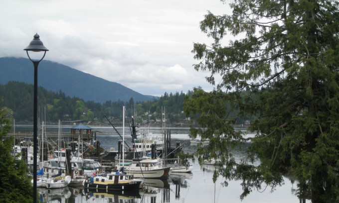 Marina at Gibsons on the Sunshine Coast