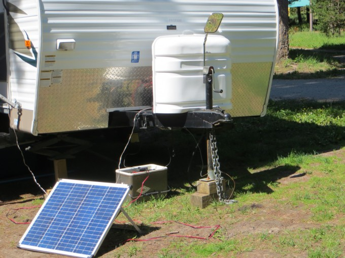 Simple solar set up to maximum sunshine