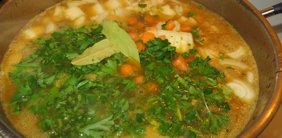 Delicious Chunky Homemade Chicken Soup