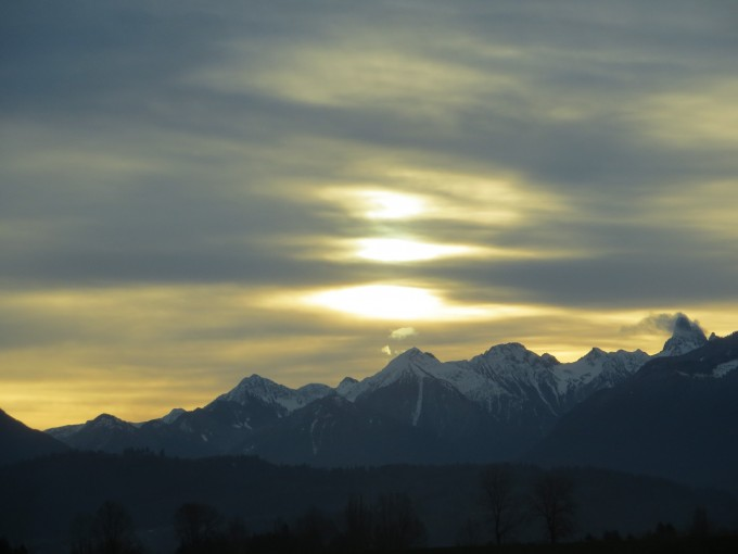 Every day is a gift ~ early morning sunrise in the Fraser Valley