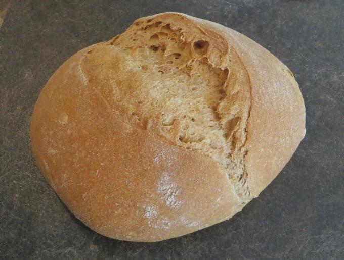 Hmmm. Delicious whole wheat sourdough bread