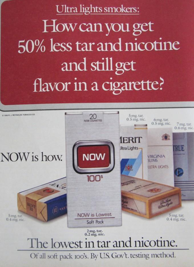 Magazine cigarette ad 1990's