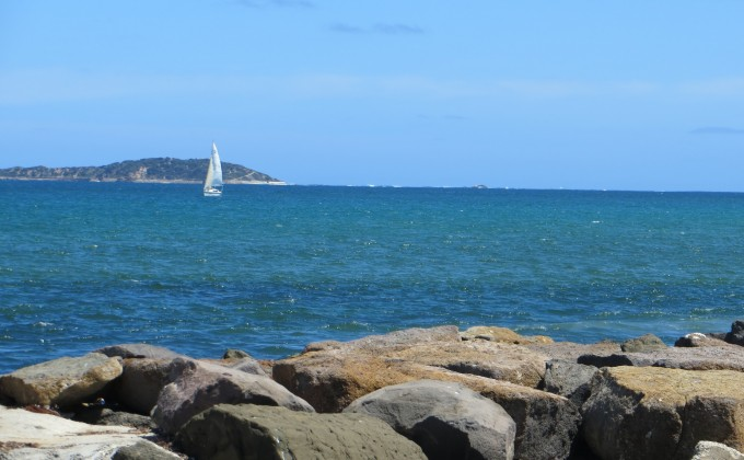 The Rip, Pt Phillip Bay on a calm day - near Queenscliff en route