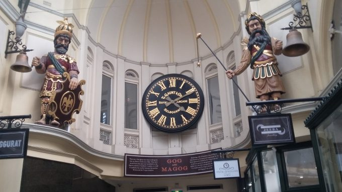 Gog & Magog - Timekeepers in the Royal Arcade, CBD