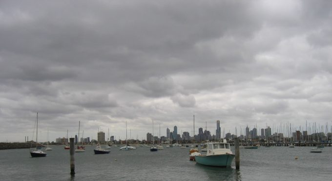 Downtown Melbourne from the St. Kilda pier