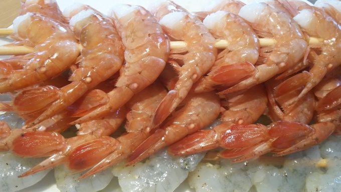 Fresh spot prawns