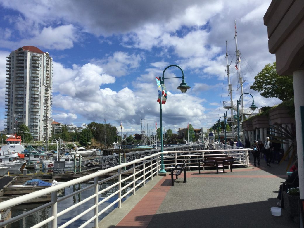 Nanaimo Harbour Boardwalk - popular with locals & visitors alike