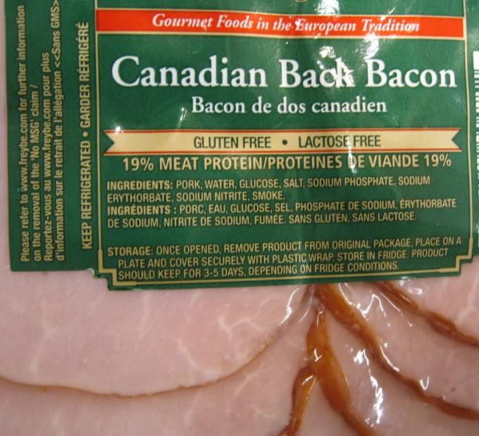 Sodium Nitrite in Bacon Label (Nitrite de sodium)