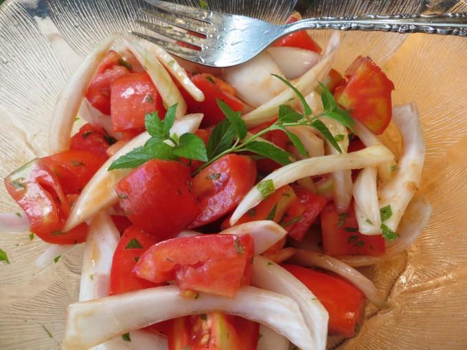 Favourite tomato onion salad